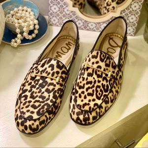 Sam Edelman Lior Loafers Leopard Dyed Calf Hair
